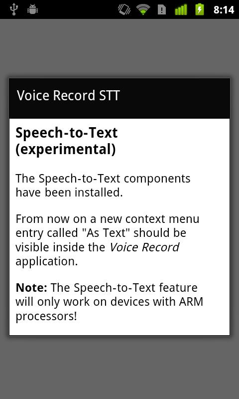 Voice Record STT - screenshot
