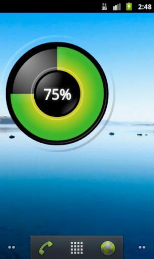 Percentage Battery Widget HD