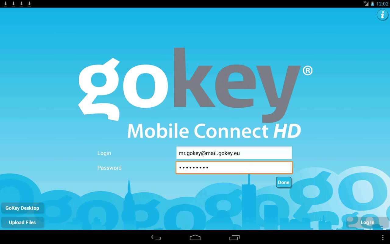 GoKey Mobile Connect - screenshot