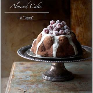 Almond Cake with Orange Glaze...and Sugared Grapes