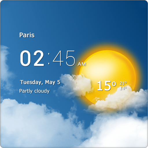 Transparent clock & weather app (apk) free download for Android/PC/Windows