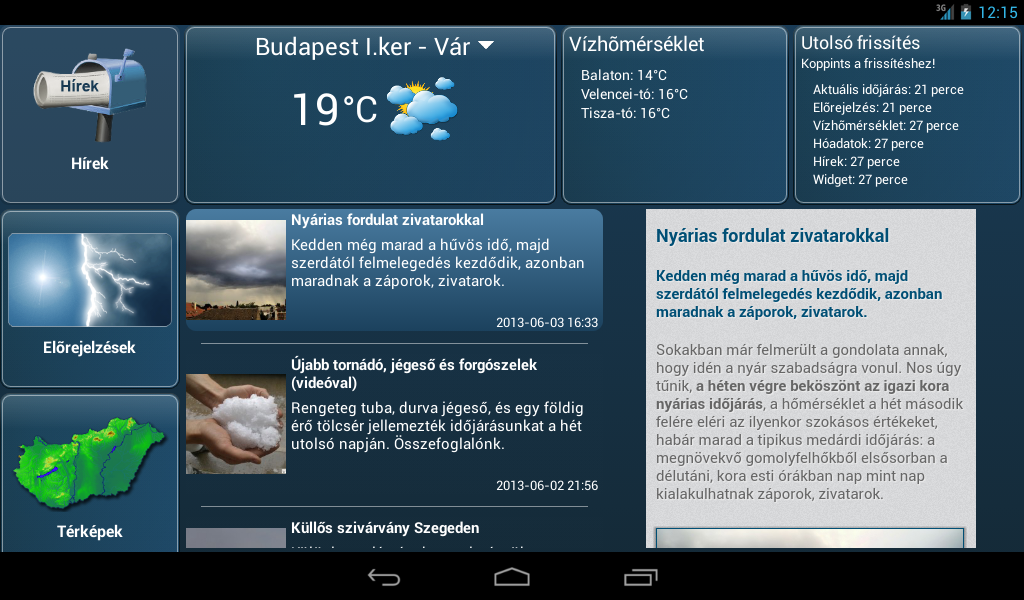 Időkép - screenshot