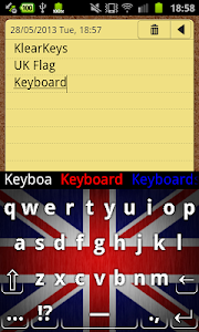 KlearKeys UK Flag Keyboard screenshot 3