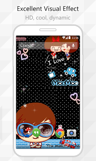 玩免費個人化APP|下載I Love Mocmoc Live Wallpaper app不用錢|硬是要APP