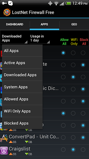 【免費生產應用App】LostNet NoRoot Firewall-APP點子