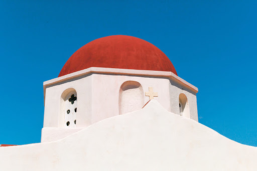 A chapel on Mykonos, one of the Greek isles on a Tere Moana cruise to the eastern Mediterranean.
