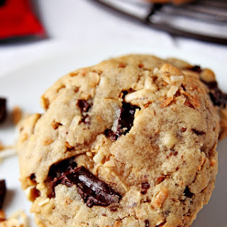 Toasted Coconut and Dark Chocolate Chunk Cookies