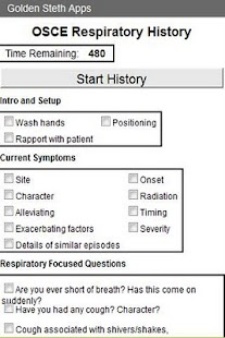 OSCE Respiratory History Check - screenshot thumbnail