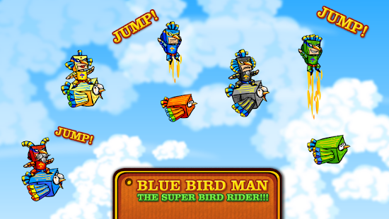 Blue Bird Man Rider