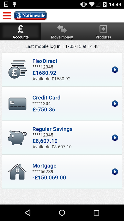 Nationwide Mobile Banking- screenshot