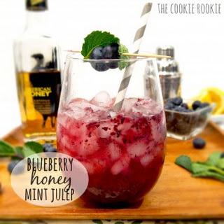 Blueberry Honey Mint Juleps