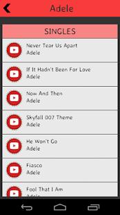Adele Lyrics screenshot