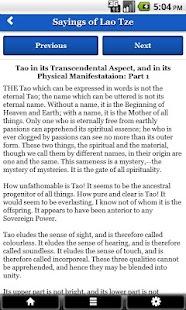 Sayings of Lao Tzu FREE - náhled