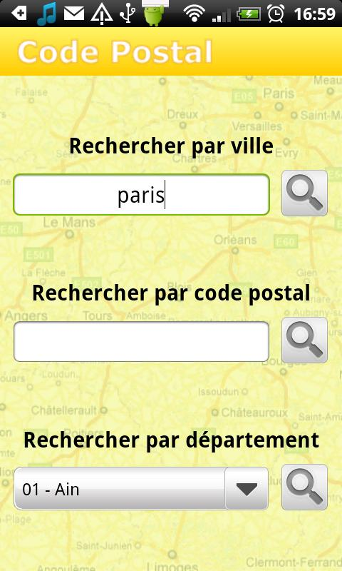 Code Postal - Gratuit - screenshot