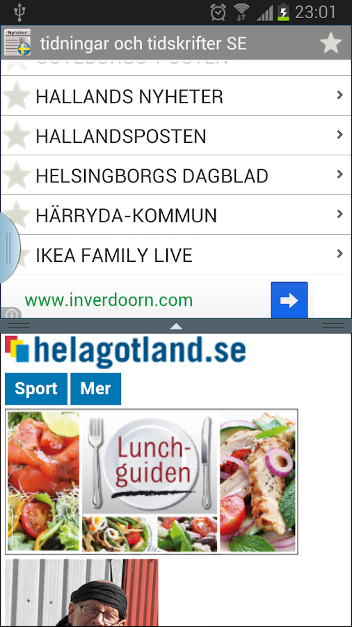 News and magazines Sweden - screenshot