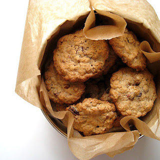 Oatmeal Cookies with Pecans and Cranberries.