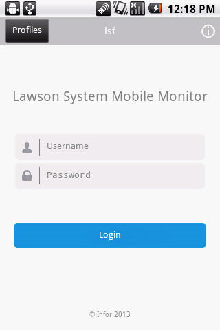 Infor Lawson Mobile Monitor