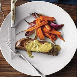 Steak With Roasted Carrots and Onions