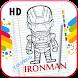 Amazing Iron Guy Coloring