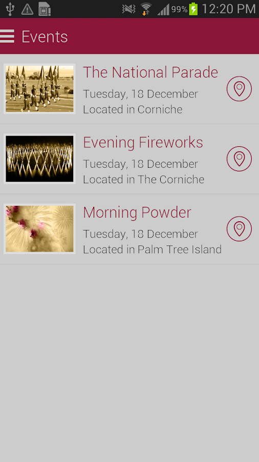 Qatar Events - screenshot