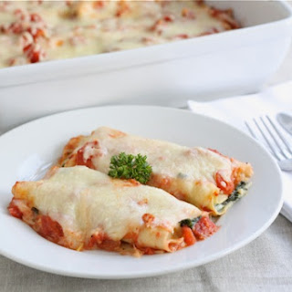 Spinach Mushroom Cannelloni.