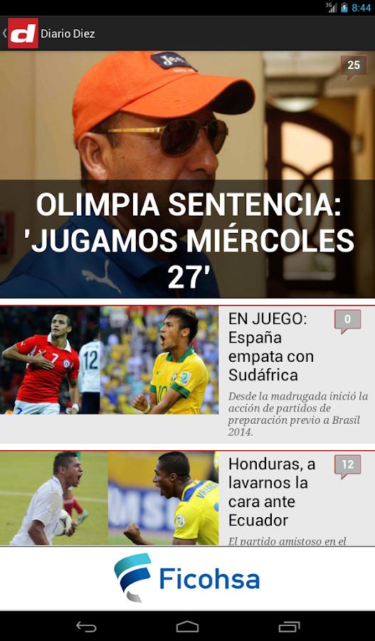 Diario Diez Honduras - screenshot