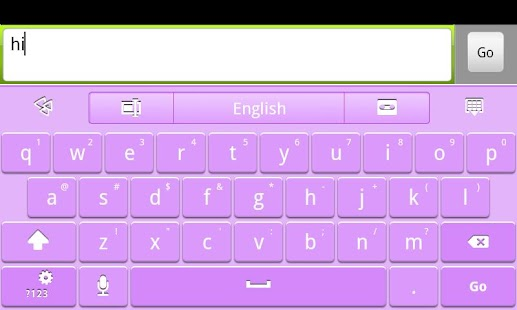 Purple GO Keyboard Theme - screenshot thumbnail