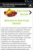Screenshot of Raw Food Secrets