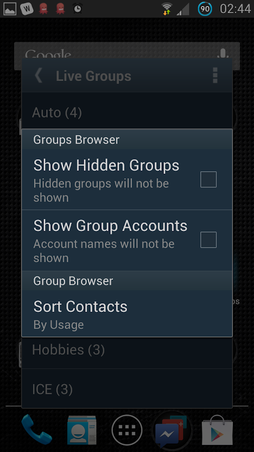 Live Groups Lite - screenshot