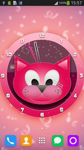 粉紅貓時鐘