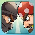 Pirates vs ninjas: 2 players icon