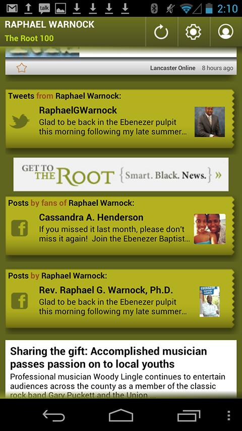Raphael Warnock: The Root 100 - screenshot