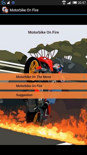 Big Motorbike On Fire