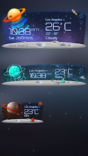 Unknown Planet Theme GOWeather - screenshot thumbnail
