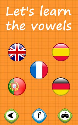 Learn the vowels for toddlers- screenshot