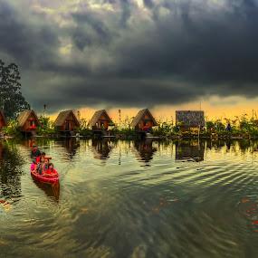Dusun Bambu by Max Bowen - Landscapes Waterscapes
