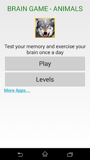 Brain Game Animals