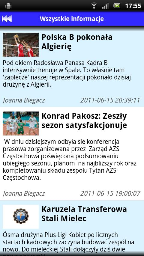 VolleyLife.pl- screenshot