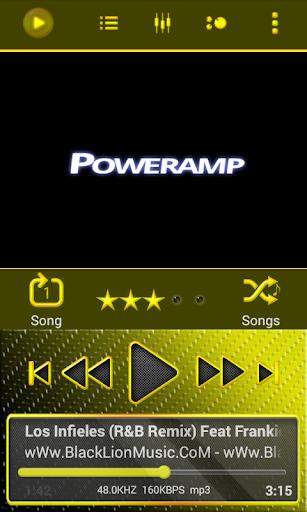 Poweramp Skin Yellow Neon