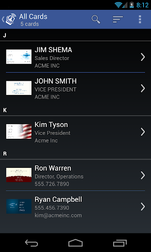 CardToContact Card Reader  screenshots 2