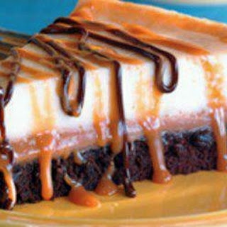 Brownie Caramel Cheesecake.