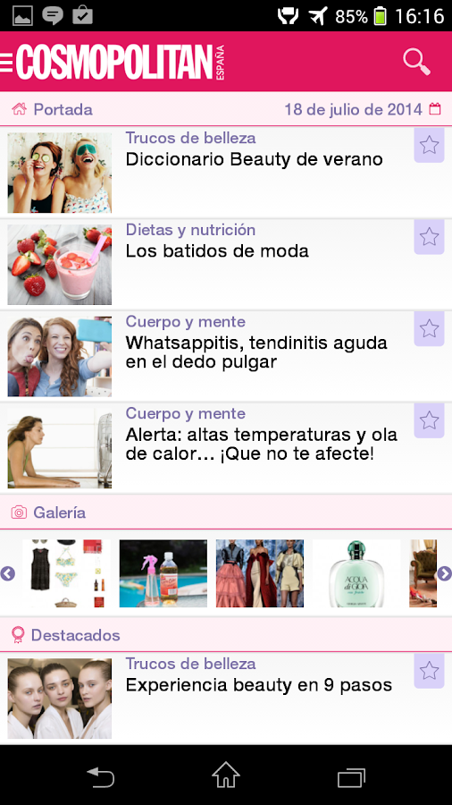 Cosmopolitan España App.- screenshot