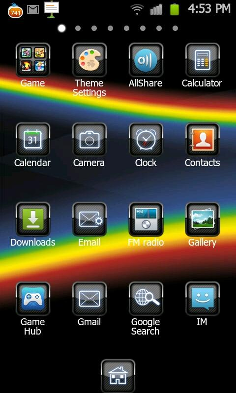 BlackBerry Theme Go LauncherEX - screenshot
