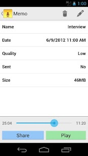 Audio Memos - screenshot thumbnail