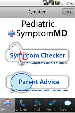 Pediatric SymptomMD - screenshot