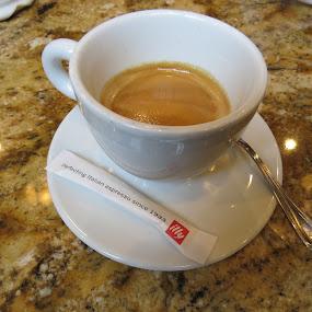 Espresso Presto! by Tanya Washburn - Food & Drink Alcohol & Drinks ( doppio, illy, espresso, coffee, cafe )