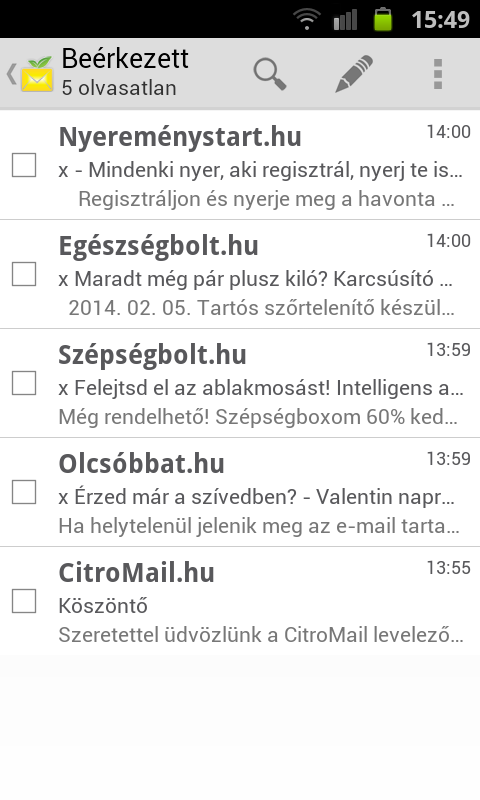 CitroMail - screenshot