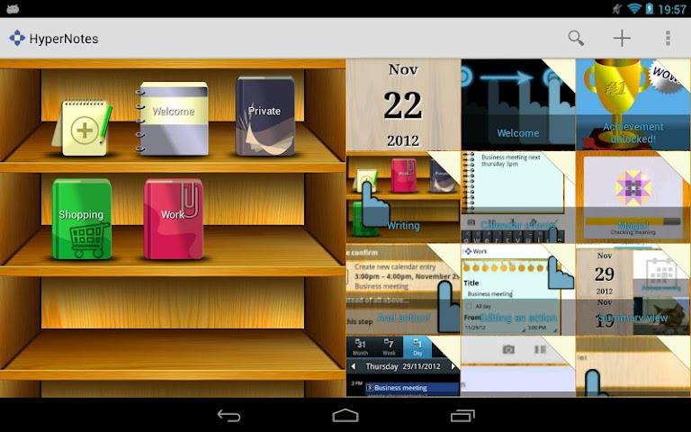 Screenshots for HyperNotes