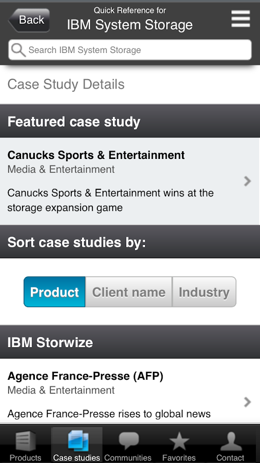 IBM Systems and Storage - screenshot