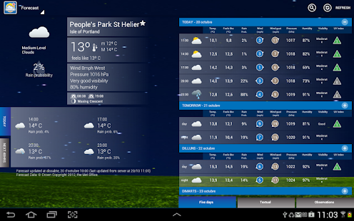 UK Weather Forecast - screenshot thumbnail